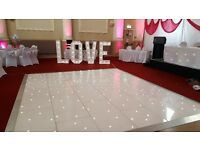 Event Hire Specialists - LED Dancefloors, LED Up-Lighting, Starcloth & Backdrops plus much more!