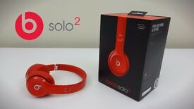 BEATS SOLO2 ON-EAR HEADPHONES - RED - New - Unopened -Sealed