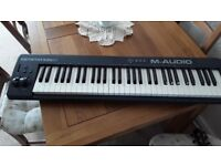 M-Audio keystation 61 midi controller keyboard
