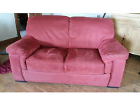 2 Seater Sofa (red suede)