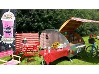 Pico the teardrop trailer makes yummy milk shakes.Hire for your wedding reception.