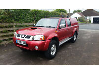 2005 Nissan Navara D22 2.5ltr Diesel Pickup Truck with Tow Bar, Roof Rails and Removable Snug Top