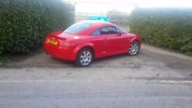 LOVELY RED AUDI TT, 54 PLATE, BRILLIANT CONDITION, PARROT HANDSFREE INCLUDED.