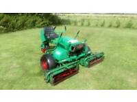 RANSOMES MOTOR 180 TRIPLE PETROL CYLINDER GANG MOWER IN GOOD WORKING ORDER ENGINE SERVICED £955
