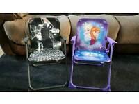 2 x Disney folded chairs - Frozen & Star Wars 5£ each - VGC
