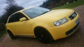 Audi S3 Quattro, V reg, Rare Imola Yellow, BRAND NEW CAMBELT AND WATER PUMP