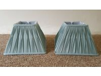 A pair of Duck Egg Blue Pleated Lamp Shades