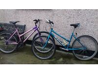 two 17in girls bikes. working order. one apollo one universal. buyer must collect. ...............