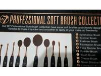 W7 professional makeup brush set pack of 10