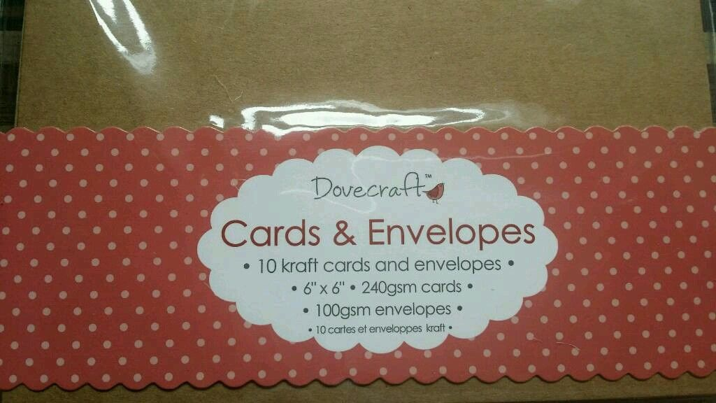 10 x craft brown cards and envelopes