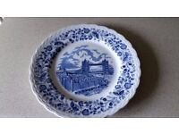 Vintage antique WH Grindley & Co Ltd dinner plate set of 4 x 11 inch with 'London Scenes' design