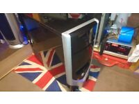 PC Tower Case Gloss Black & Silver