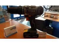 TITAN Cordless 18v Drill 2 x 1.5AH Li-in Batteries