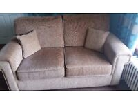 BROWN FABRIC SUITE - This suite is made up of 2 and 3 seater couches with matching cushions