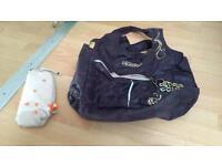 Purple Okiedog baby changing bag