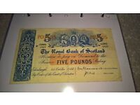 WANTED - Old Scottish Banknotes