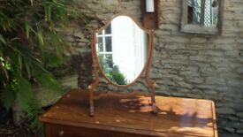 Edwardian Shield shaped toilet mirror