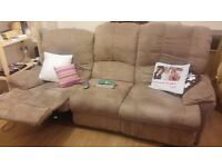 3 seater sofa with reclinable seats