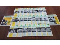 1970-71 & 1971-72 SEASON NORWICH CITY HOME FOOTBALL PROGRAMMES
