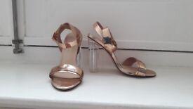 High heels clear size UK 4 EU 37