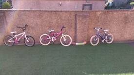 Girls bikes and scooter