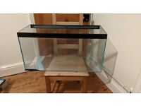 MEDIUM SIZED FISH TANK - SLIGHTLY DAMAGED BUT IN WORKING ORDER - £40 ONO (happy to barter)