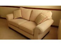 2 seater sofa and armchair cream/ gold £400 ono
