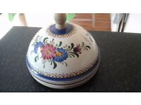 Domed cheese board handpainted from Portugal