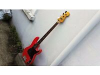 Squier Classic Vibe Fiesta Red P-Bass 60's