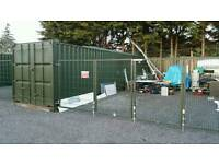 gated secure Storage yard with 40ft container, with light & power