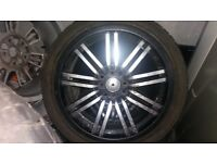 """17"""" wheels with tyres in very good condition"""