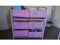 Girls toy and book storage