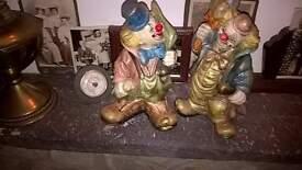 Antique pair of Clown ornaments