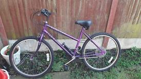 Huffy Ladies Bike with pump & stand
