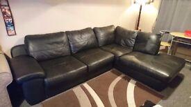 Leather milan corner sofa