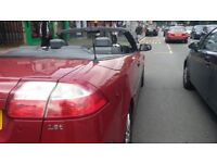 SAAB 93T, CONVERTIBLE, RED.
