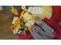 Yellow wedding items