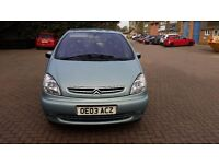 2003 citroen xsara picasso 1.6 Litre, petrol, mot till May 2017, good condition inside and outside
