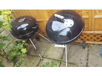 2 x BBQ's with some cooking utensils