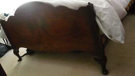 Walnut Double Bed - Need Gone ASAP-
