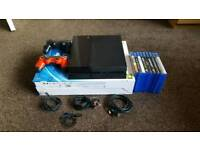 Playstation 4 Console 1TB 2 Controllers 9 Games