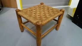 Vintage / Retro footstool wicker