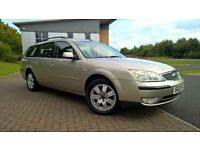 FORD MONDEO 1.8 ZETEC ESTATE ONLY 71000 MILES FROM NEW FSH MOT TILL MAY 2018