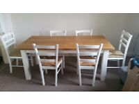 Solid wood table and 6 chairs for urgent sale