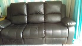 3 seater and 1 seater reclining sofas