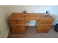 Dressing table - solid pine, 6 drawer