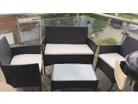Rattan Balcony/Garden Sofa Set along with Charcoal BBQ station