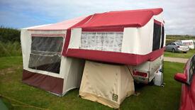 Conway Cruiser Folding Camper with new Cabin Canvas - cross between Caravan & Trailer Tent