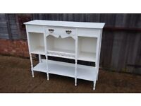 Vintage Painted Sideboard Shelves in Farrow and Ball Wimbourne White