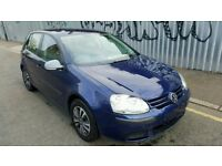 Volkswagen Golf S 08 low mileage, 5 door Quick sale